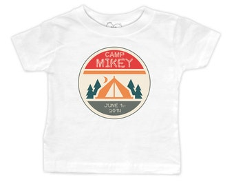 """Personalized """"Lil Camper"""" Birthday Camp Out T-Shirt"""