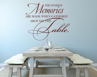 Dining Room Decal, Family Wall Decal, Dining Table Decal, Dining Decor, The