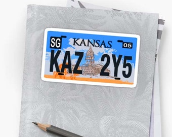 Vinyl Sticker - Supernatural license plate