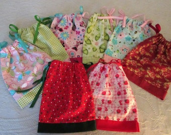 "Handmade American Girl/18"" Doll Pillowcase Dress ~  Polka Dot"