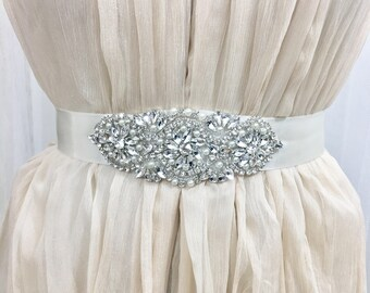 Bridal Belt, Wedding Sash Belt, Bridal Sash, Bridal Belt Applique, Wedding Accessories, Wedding Belt, Wedding Sash Applique, bridal applique