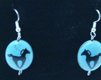 Heart Horses Earrings