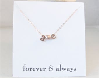 Personalized Initial Necklace,Rose Gold,Rose Gold Letter Necklace Custom Bridesmaid Gift Personalized Wedding Minimalist Monogram Gift,gold