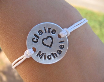 Couples bracelet - Bracelet for Couples - Custom Bracelet - Boyfriend Bracelet - Girlfriend Bracelet - Mens Bracelet - Womens Bracelet