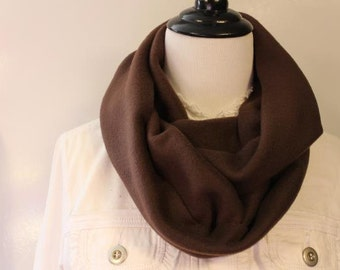Women's Fleece Infinity Scarf Brown