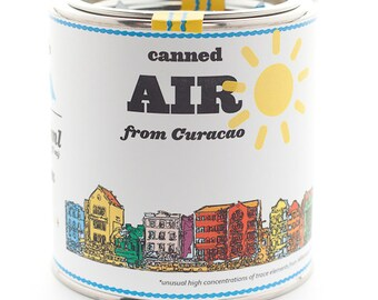 Original Canned Air From Curacao, gag souvenir, gift, memorabilia