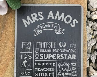 Exclusive Personalised The Best Teacher Gift Laser Engraved Sign