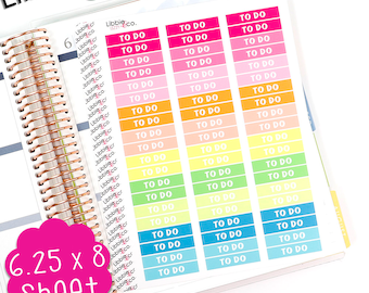 LS234 Summer Palette To Do MDN Headers! Set of 60 Vinyl Planner Stickers, Check List, Perfect for the Erin Condren Planner!!!