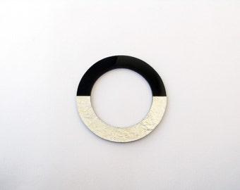 Black Resin Bangle-Resin Bangle-Geometric Bangle-Bangle Resin-Modern Black Bangle-Resin Jewellery-Modern Jewelry-ContemporaryJewelry