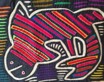 Mola from Panama with Seal - Ethnic Art - Childs Room