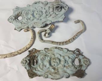 6 Pc Vintage Metal Decorative Pulls Mishmash