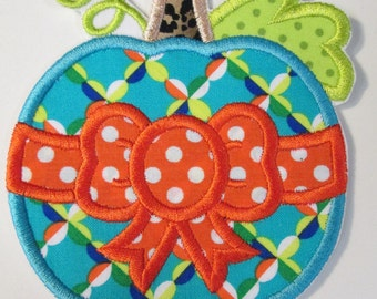 Thanksgiving Pumpkin Iron On or Sew On Applique