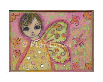Isabella  -  Fairy Print from Painting by FLOR LARIOS (5 x 7 INCHES)