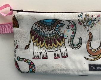 X-Small Elephant Zip Pouch