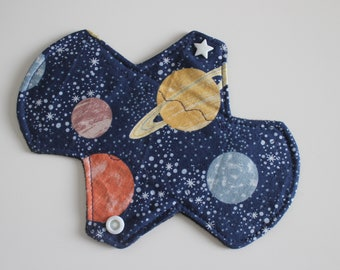 """6.75"""" liner, reusable cloth pantyliner - to the moon and back"""