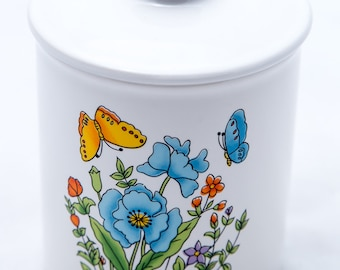 Vintage Canisters + 2 Matching Cup Set