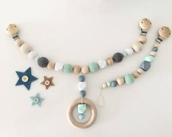 Pram with crochet beads