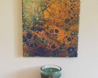 Coral Corrosion OOAK paint pour
