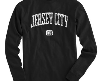 LS Jersey City 201 Tee - Long Sleeve T-shirt - Men and Kids - S M L XL 2x 3x 4x - New Jersey - 4 Colors