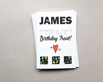 Boyfriend Birthday Card, Rude Scratch Off, Naughty,Rude, Husband Card, Dirty Birthday, Girlfriend, Kinky Gift, Novelty, Fiance birthday card