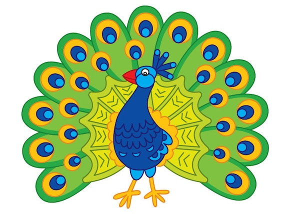 peacock clipart digital vector peacock feather peafowl rh etsy com peacock clipart free peacock clip art free