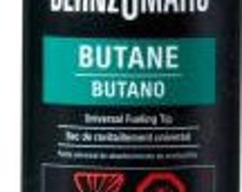 BernzOmatiC 5.5OZ Butane Cylinder 5.5 oz Butane Refill features a universal fueling tip for convenient Colorless Odorless gas 3A6B A E