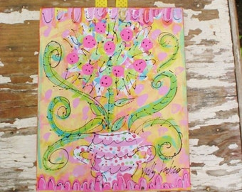Topiary Collage Painting Made To Order Any Colors