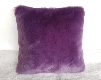 Ultraviolet pillow cover / Faux fur pillow case / Ultraviolet fur pillow / Fur pillow cover /Modern home decor pillow / Accent pillow cover