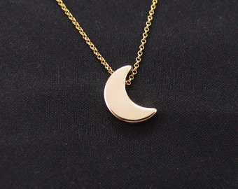 gold moon necklace, gold filled, crescent moon, bridesmaid gift, mother's day gift, delicate minimalist necklace, layering, birthday gift