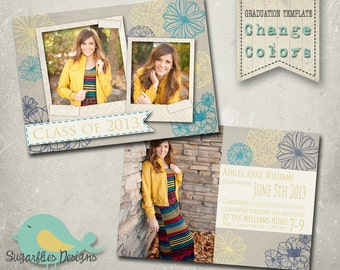 Graduation Announcement PHOTOSHOP TEMPLATE - Senior Graduation 21