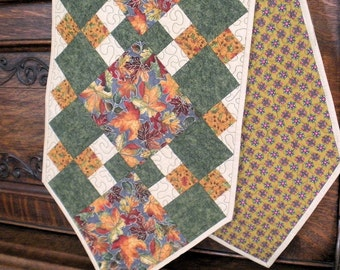 Fall Table Runner --  handmade quilted tablerunner by GloryQuilts