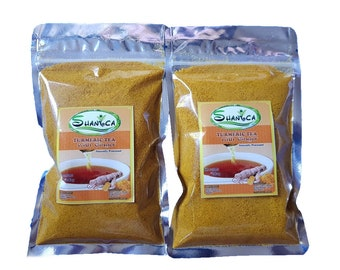 Organic Powdered Turmeric Tea With Ginger Free Caffeine(Coco sugar) 100gr.