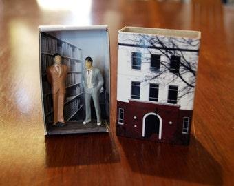 Matchbox Building: Matchbox Miniature of West Block, Canberra, Australia.
