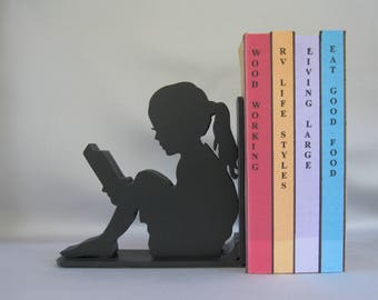 Girl Reader Bookend