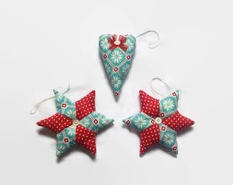 Christmas Tree Ornaments, Tree Decorations, Star Decoration, Heart Decoration, Snowflake, Tree Decor, Christmas Decor, Christmas Bauble
