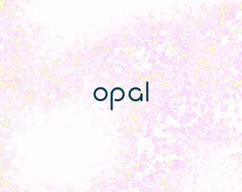Opal sans serif font