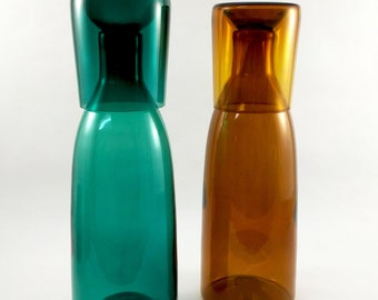 Water carafe set / handmade blown glass water carafe and glass