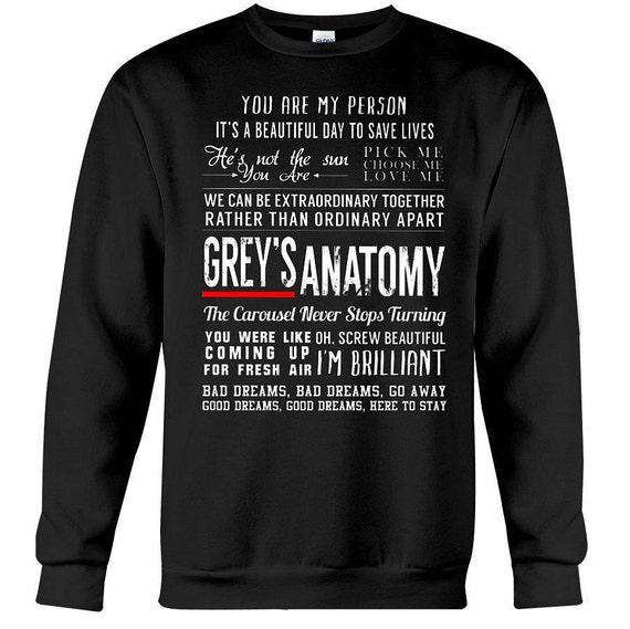 Grises anatomía citas camiseta gris anatomía regalos