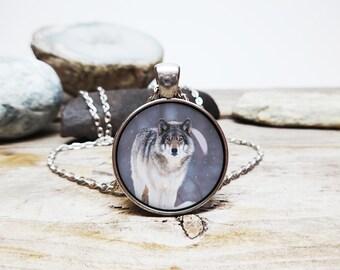 Wolf necklace spirit guide necklace teenwolf necklace wolf pendant white wolf necklace direwolf necklace wolf totem amulet werewolf necklace