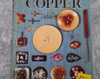 Enamel On Copper -  Vintage Walter Foster Book - Craft Supplies - how to pattern book -  Mid Century