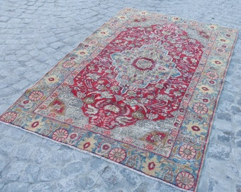 VinTAGe turkish rug - medium soft decorativs oushak rug rug turkish, 587