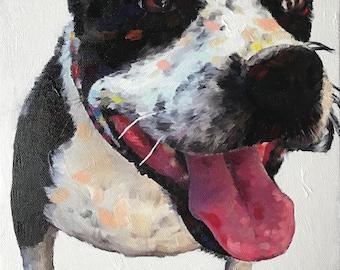 Modern Boxer Portrait - Boxer Painting from your Photo - Pet Portraits