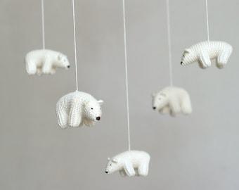 baby mobile /  Polar bear mobile / nursery mobile / crib mobile