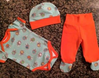 infant gift set - elephant set - baby elephant set - 0-3 month - 3-6 month  - baby set - elephant -  cute baby - exclusive  elephant  fabric