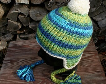 Handmade Animal Fiber Free Ear Flap Hat