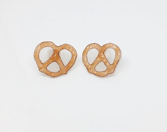 Mini Pretzel Earrings Soft Pretzels Bavarian Pretzel Lover Foodie Gift Funny Food Jewelry Snack Time Baker Cute Gift For Teen Mothers Day