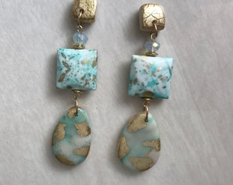 Luxify Turquoise and Gold Dangles