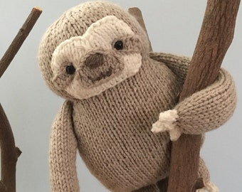 Free Amigurumi Sloth Pattern : Original knit and crochet amigurumi patterns by amygaines on etsy