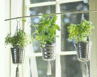 Herb Hanging Holders Crochet PDF Pattern Instant Download