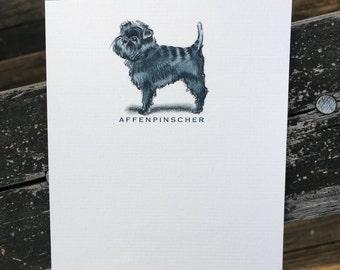 Affenpinscher Dog Note Card Set